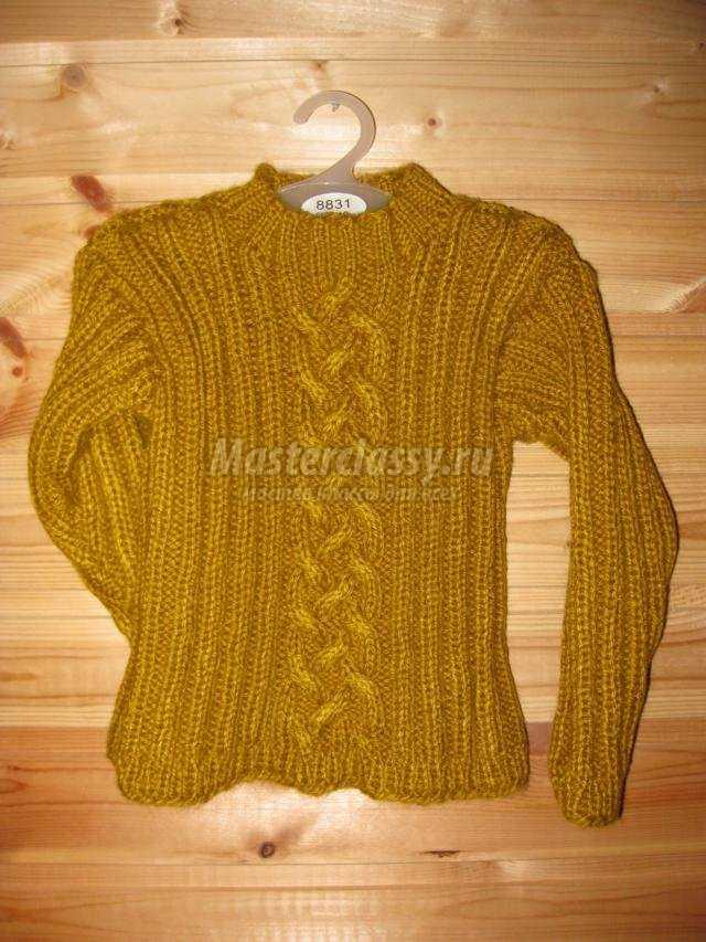 вязание свитера спицами