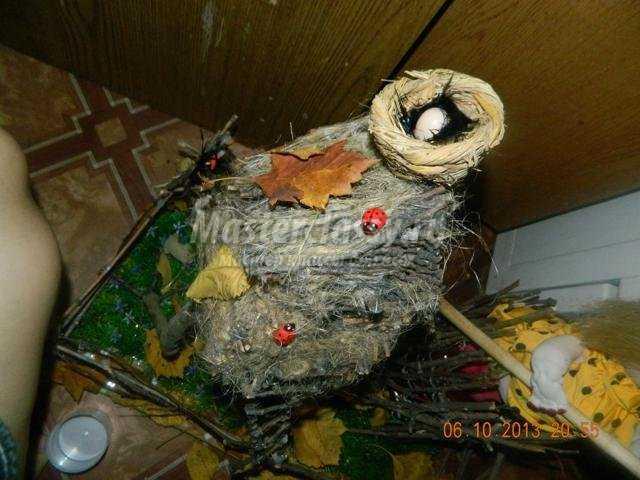 осенние поделки из природных материалов. Баба Яга