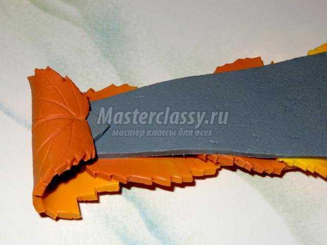 галстук из полимерной глины. Осенняя мелодия