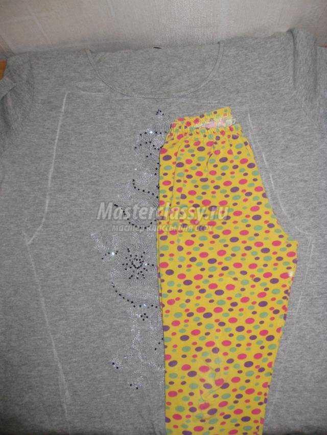 леггинсы из старой футболки