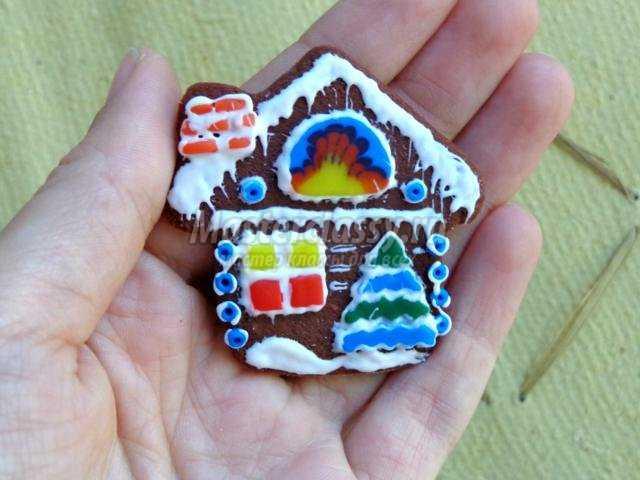 пряничный домик из полимерной глины