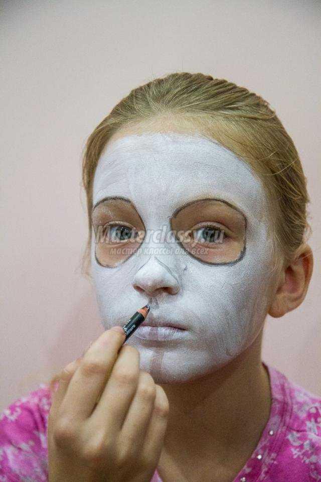 макияж на Хэллоуин. Сахарный череп