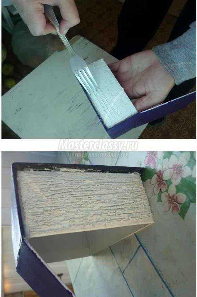 декупаж. Шкатулка-книга из коробки