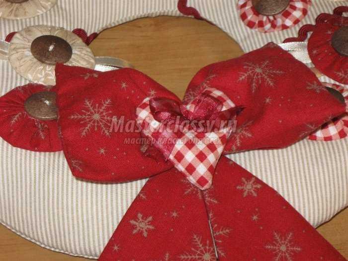 Рождественский венок в стиле Тильда