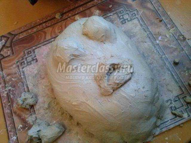 поделки на Хэллоуин маска из глины. Ужас