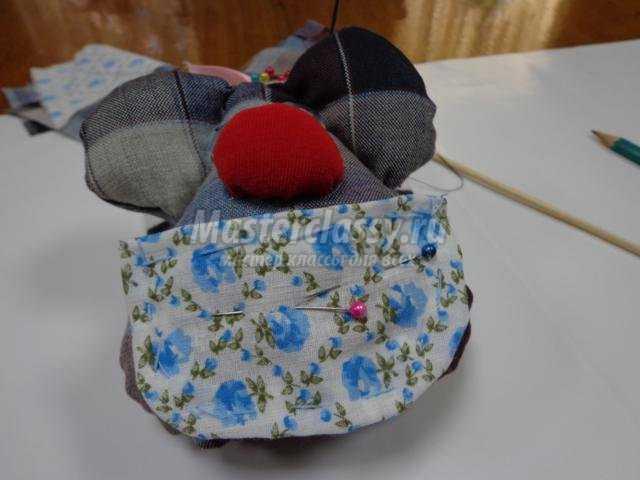 подарок маме. Мышка из ткани