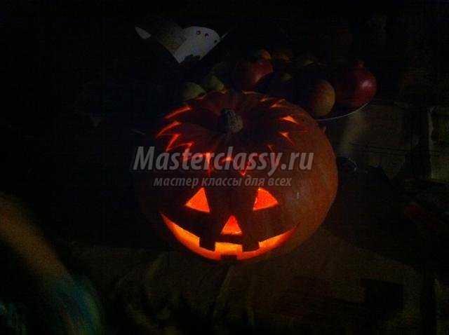 светильники из тыквы к Хэллоуину