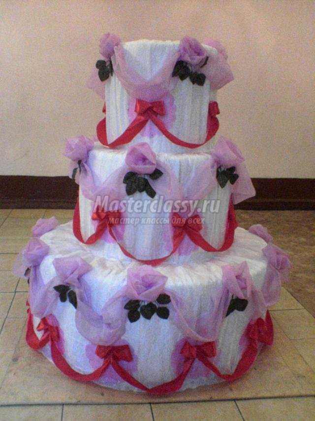 бутафорский торт из ткани на День матери