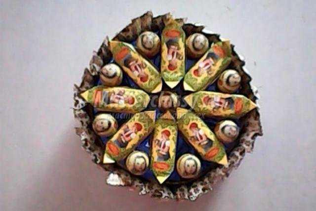 сладкая коробочка из конфет своими руками