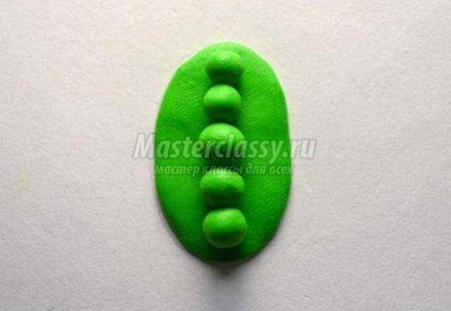 Серьги из полимерной глины Горошинки
