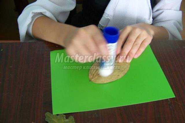 поделки из пластилина и природного материала. Ёж