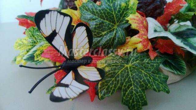 декоративная ваза для сухоцветов. Осенняя