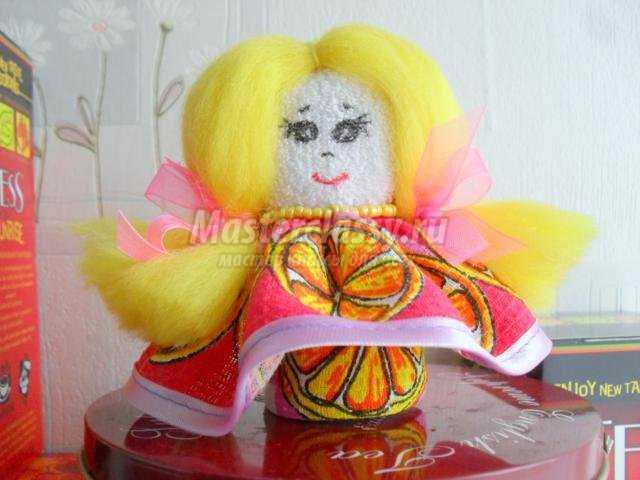 куколка из носочка своими руками
