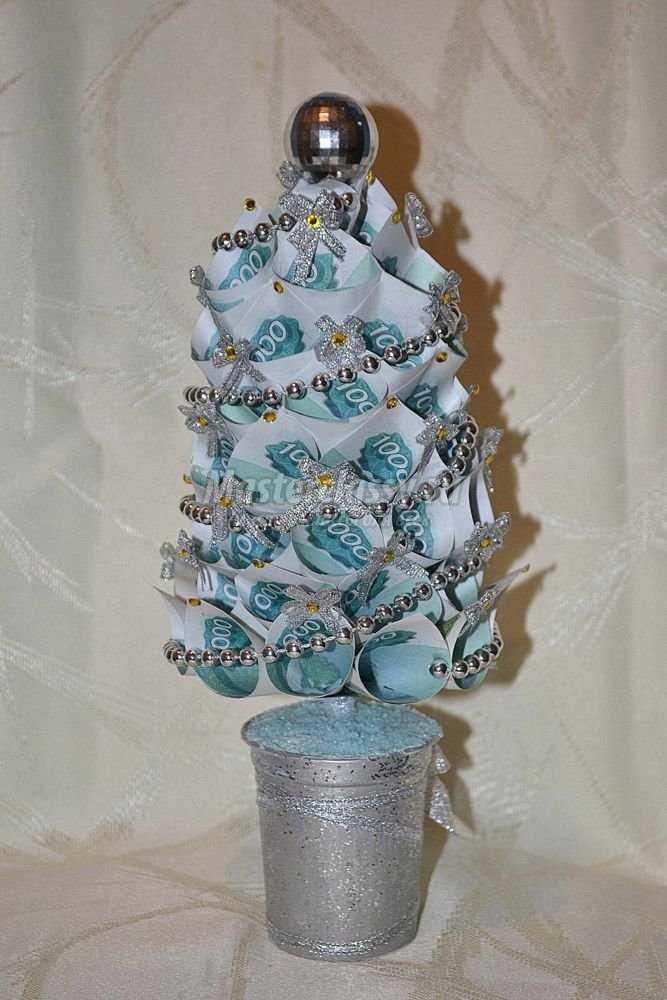 Новогодняя елка из денег � пода�ки к п�аздник� �воими