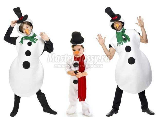 Костюм своими руками снеговик