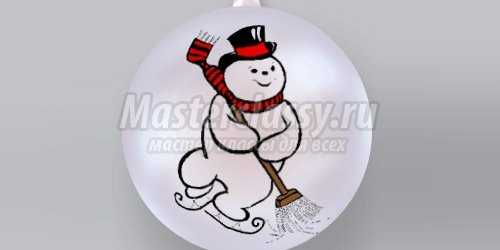 1383975028_xmastuts36 Снеговик своими руками на Новый год из подручных материалов