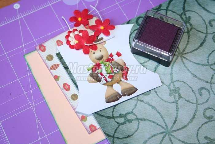 АТС открытки в технике скрапбукинг «Рождество»