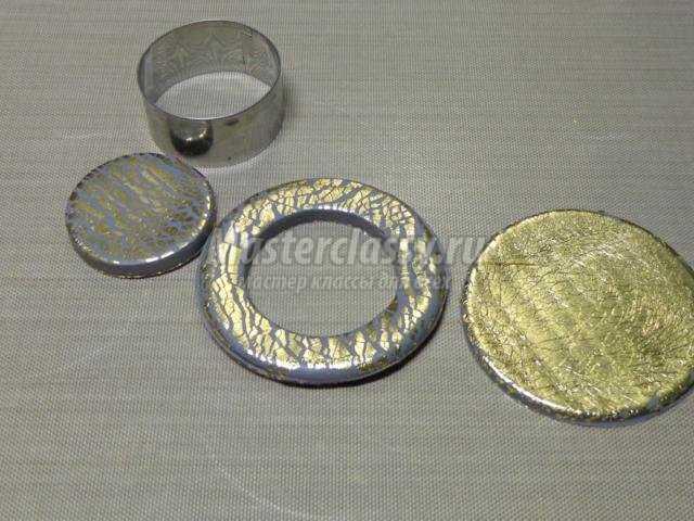 новогодний подсвечник из полимерной глины