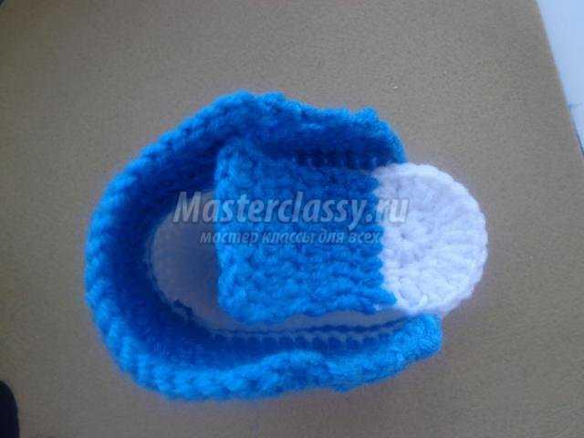 Вязаные крючком пинетки-кеды для малыша от 0 до 6 месяцев ...