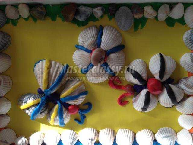 поделки из ракушек и пластилина для детей от 3 до 7 лет