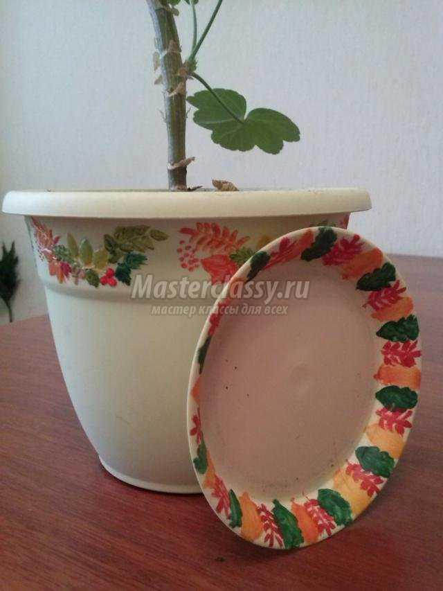 идеи по декору цветочных горшков