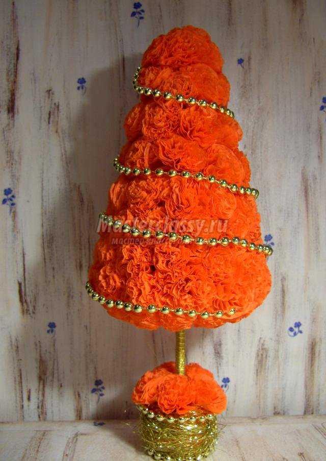 новогодняя ёлочка из салфеток своими руками