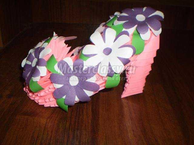 Оригами как сделать туфельку из бумаги