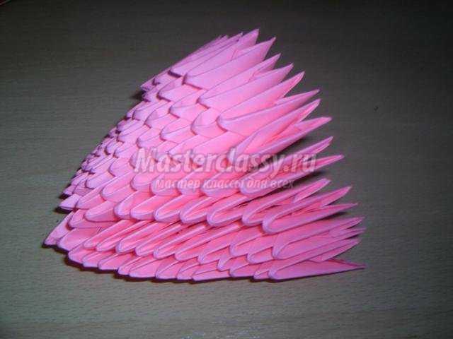 модульное оригами. Туфелька для моей мамочки
