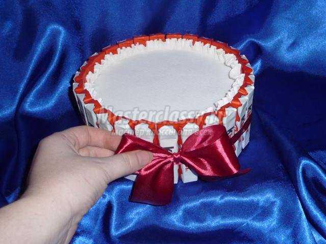 свит-дизайн. Торт из конфет за 1 час