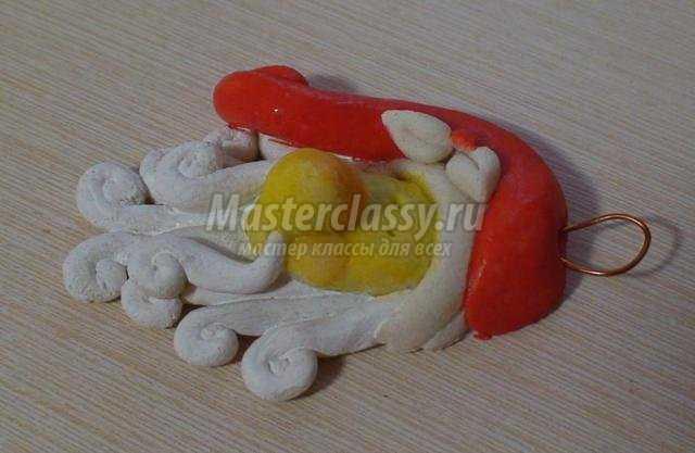 елочные игрушки из соленого теста. Дед Мороз и Снегурочка