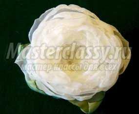 Цветок из шифона своими руками фото фото 611
