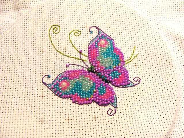 Картины для вышивки бисером бабочки