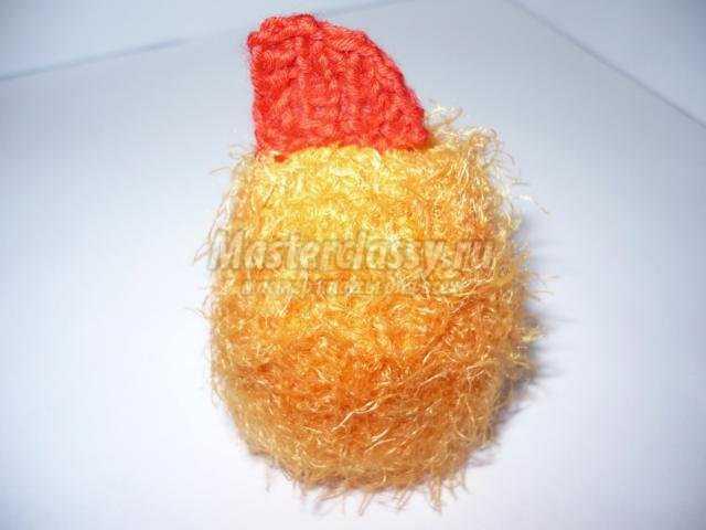 вязаный цыпленок спицами