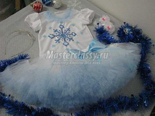 Снежинки на платья своими руками