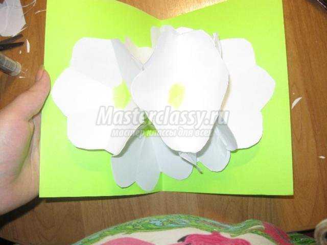 3D открытка с цветами своими руками для мамы