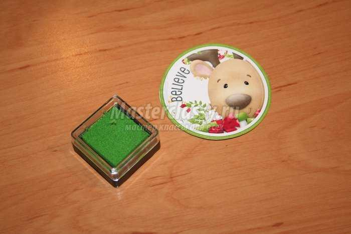 Упаковка для сладких конфет в технике скрапбукинг