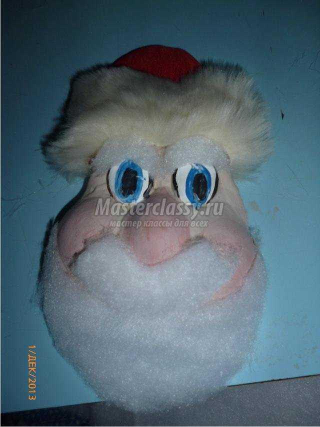 новогодняя подвеска. Дед Мороз из соленого теста