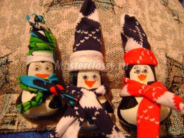 пингвины из лампочек своими руками