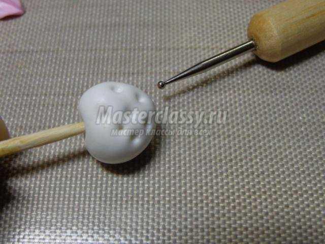 комплект бижутерии из полимерной глины в стиле шебби шик