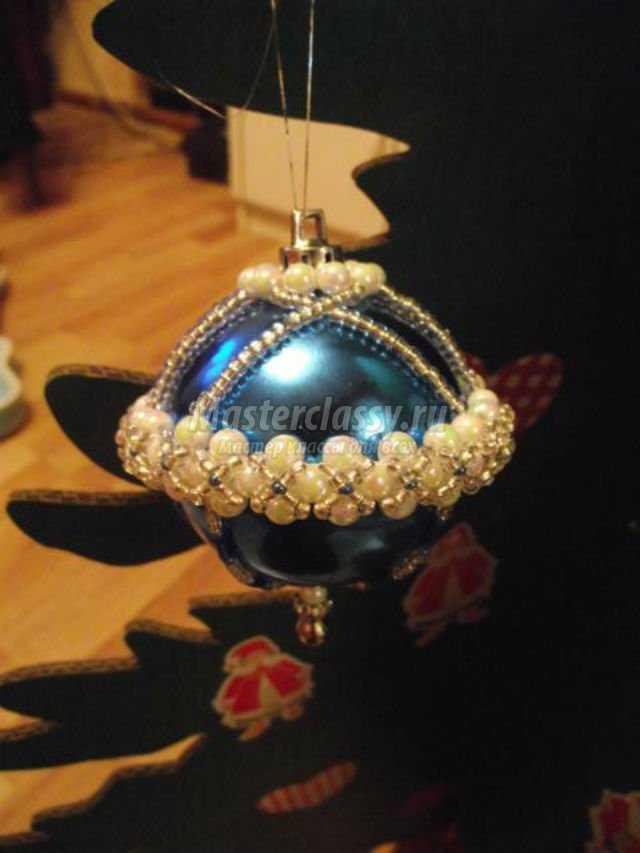 бисероплетение новогодний шар. Зимние мотивы