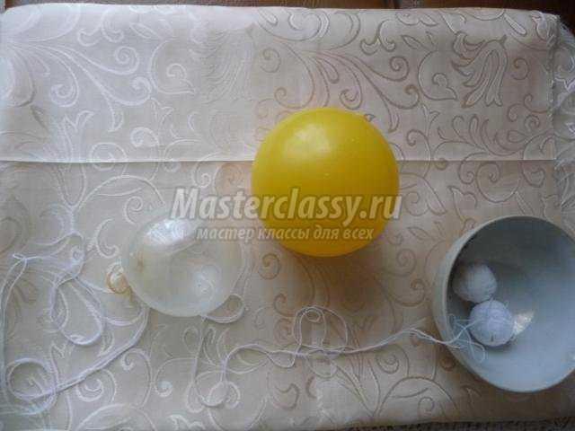 елочные шары из ниток своими руками к Новому году
