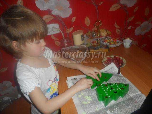 новогодняя шкатулка-елочка своими руками
