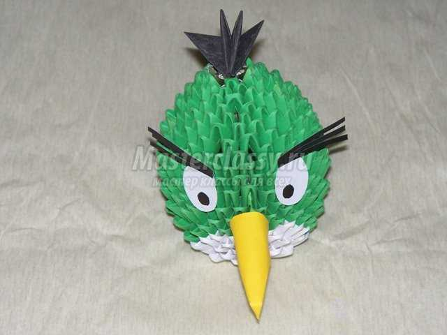 Модульное оригами Птичка Хэл (Angry Birds)