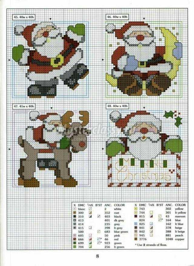 новогодние схемы для вышивки крестиком