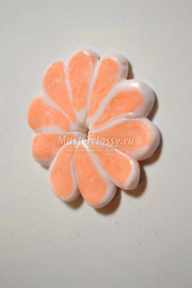 серьги из полимерной глины. Сочный апельсин