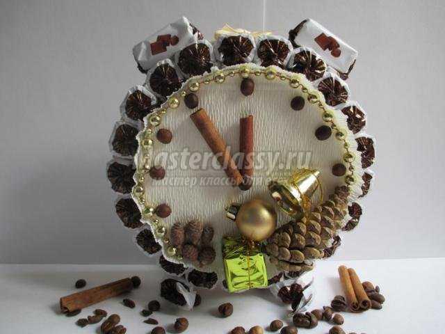 кофейный будильник из конфет