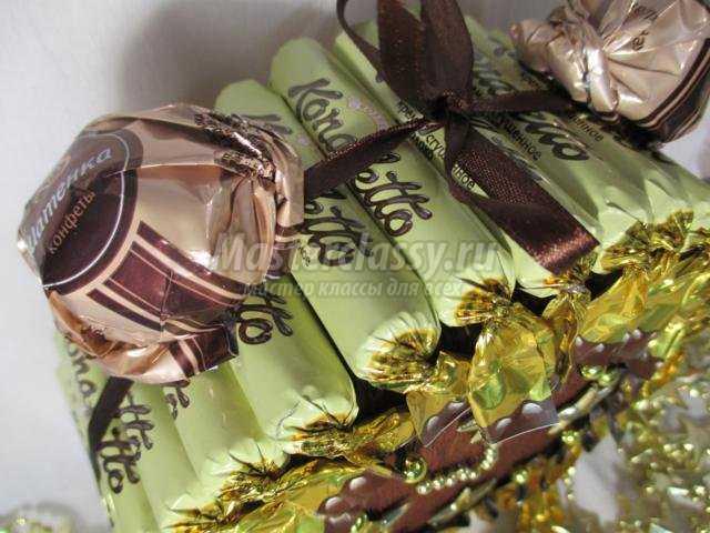 новогодний будильник из конфет своими руками