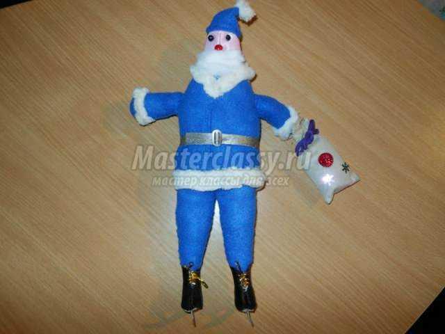 кукла тильда. Олимпийский дед Мороз