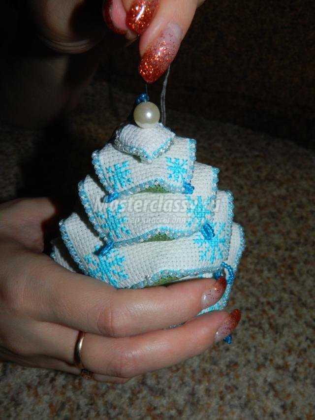 новогодняя елочка-бискорню своими руками
