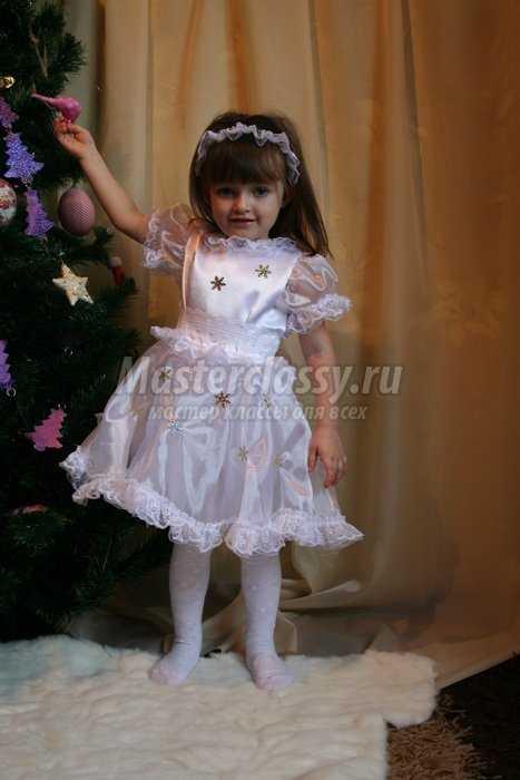 Новогодний костюм Снежинка своими руками